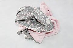 Textil - Minky deka Líštička, biela alebo ružová, 100x70cm - 9378162_