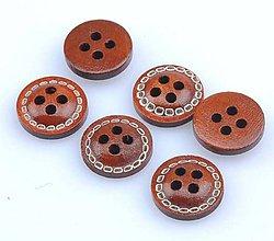 Galantéria - Gombíček drevený 1,2 cm - 9380437_