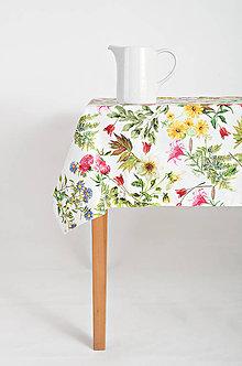 Úžitkový textil - Lúčne kvety stolovanie - 9379280_
