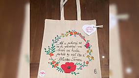 Iné tašky - ♥ Plátená, ručne maľovaná taška ♥ - 9381341_
