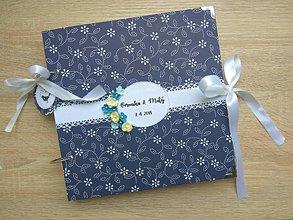 Papiernictvo - Svadobný album - Modrotlač - 9381303_