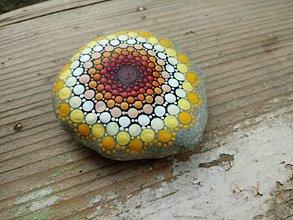 Dekorácie - Slnko v duši - Na kameni maľované - 9380449_