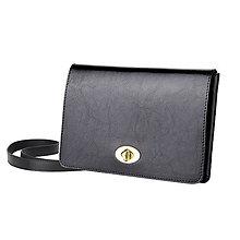 Kabelky - Kožená listová kabelka AMIRA (Čierna) - 9379341_