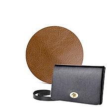 Kabelky - Kožená listová kabelka AMIRA (Hnedá) - 9379502_
