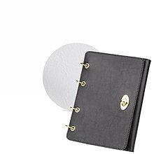 Papiernictvo - Kožený zápisník / karisblok AMIRA - čierny, A5 (Biela) - 9379613_