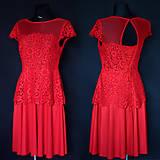 Šaty - Tylové koktejlové šaty z krajky rôzne farby - 9377911_