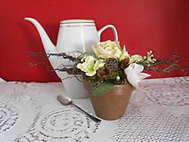 Dekorácie - Dekorácia s čajovou ružou - 9380798_