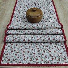 Úžitkový textil - Drobné ružičky na režnej(2) - stredový obrus 153x41 - 9380540_
