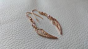 Náušnice - Angel wings (pozlátené striebro) - 9381020_
