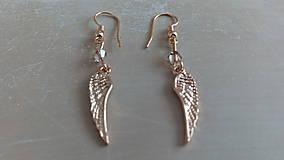 Náušnice - Angel wings (pozlátené striebro) - 9381028_