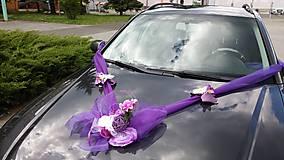 Dekorácie - Výzdoba na auto - slivková mašľa - 9378938_