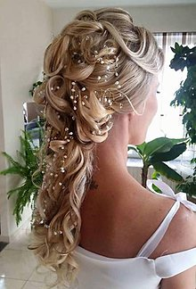 Ozdoby do vlasov - Svadobná girlanda do účesu nevesty - 9380534_