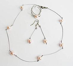Sady šperkov - Perlový set - 9378907_