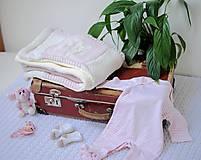 Textil - Staroružová so srdiečkami - 9378421_