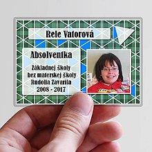 Nezaradené - Absolventská menovka trojuholníky - 9378872_