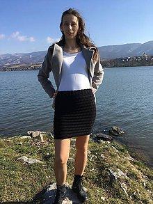 Sukne - Stretchová pletená sukňa - 9381842_