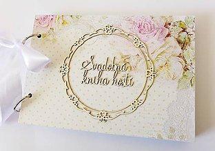 Papiernictvo - svadobná kniha hostí - 9381639_