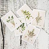Papier - Kvetinové nálepky Známky z herbára - 9385255_