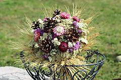 Dekorácie - Kytica zo sušených kvetín - 9382319_