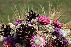 Dekorácie - Kytica zo sušených kvetín - 9382322_