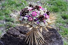 Dekorácie - Kytica zo sušených kvetín - 9382324_