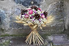 Dekorácie - Kytica zo sušených kvetín - 9382327_