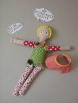 Hračky - Gombíková bábika Terezka na objednávku - 9382310_