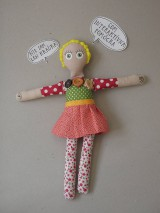 Hračky - Gombíková bábika Terezka na objednávku - 9382503_