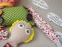 Hračky - Gombíková bábika Terezka na objednávku - 9382504_