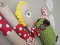 Hračky - Gombíková bábika Terezka na objednávku - 9382505_