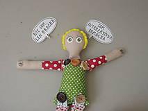 Hračky - Gombíková bábika Terezka na objednávku - 9382508_