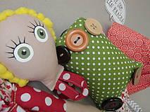 Hračky - Gombíková bábika Terezka na objednávku - 9382509_