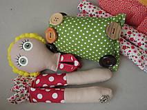 Hračky - Gombíková bábika Terezka na objednávku - 9382510_