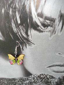 Náušnice - Náušničky jarné motýliky - 9383176_