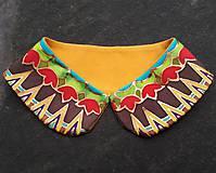 Iné doplnky - Tulipánkový-hodvábny maľovaný golierik - 9381554_