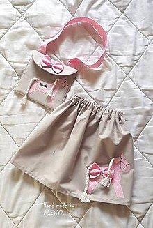Detské oblečenie - Dievčenský setík (suknička + kabelka) - 9382483_