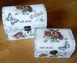 Krabičky - Šperkovnica  AIR  MAIL  väčšia - 9385162_