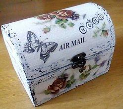Krabičky - Šperkovnica  AIR  MAIL  väčšia - 9385166_