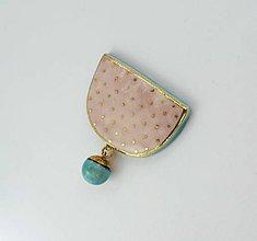 Odznaky/Brošne - Tana šperky - keramika/zlato - 9381806_