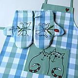 Iné oblečenie - JARNÍ TULENÍ - zástěra a chňapky - 9382198_