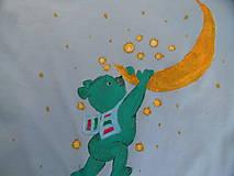 Detské oblečenie - tričko macko na mesiaci - 9384844_