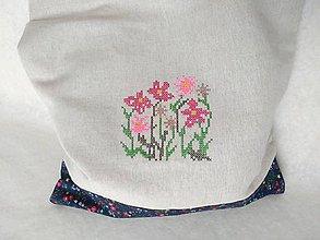 Dekorácie - Výšivka, nákupná taška - 9382988_