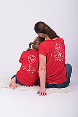 Tričká - Setík - tričko červený folk - 9382634_