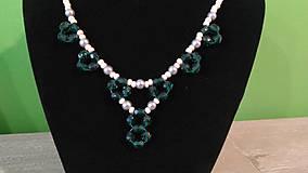 Náhrdelníky - Zelený náhrdelník - 9382665_
