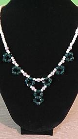 Náhrdelníky - Zelený náhrdelník - 9382666_