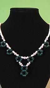 Náhrdelníky - Zelený náhrdelník - 9382667_