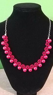 Náhrdelníky - Červený perlový náhrdelník - 9382591_