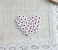 Korálky - Korálky srdiečkové  (Sada 25 ks) - 9384201_