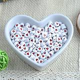 Korálky - Korálky srdiečkové  (Sada 25 ks) - 9384202_