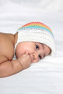 Detské čiapky - Čepček Sunshine- dúhovaný - 9384470_